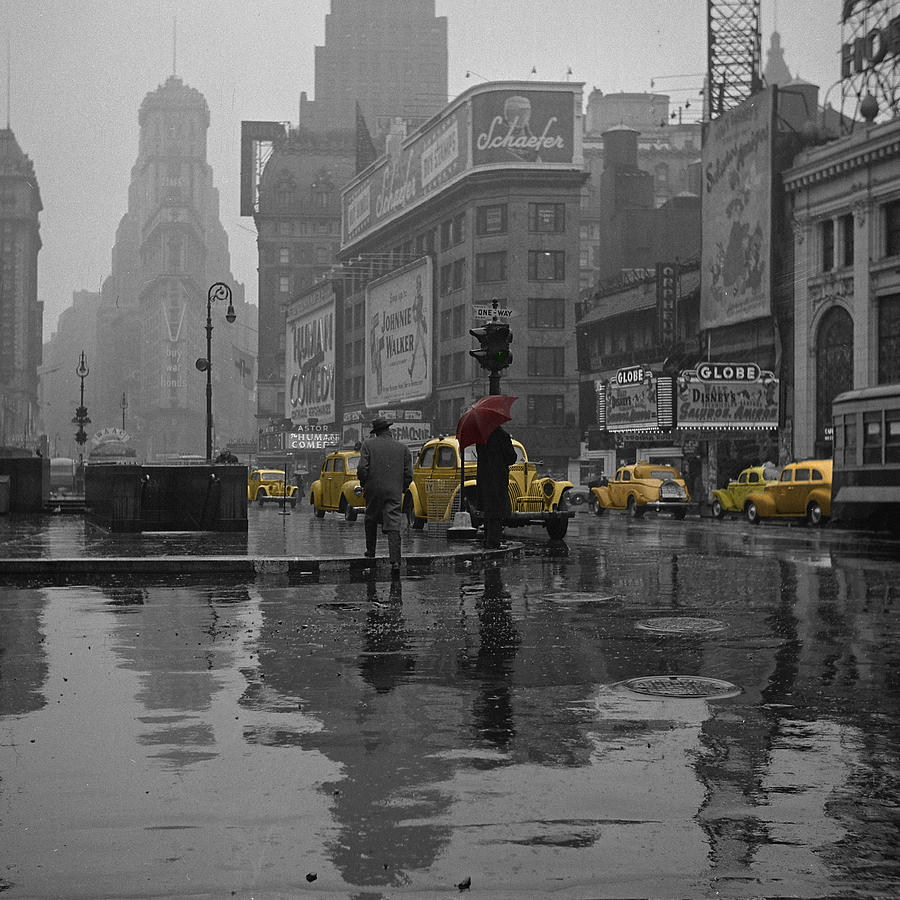 Yellow Cabs New York Photograph  - Yellow Cabs New York Fine Art Print