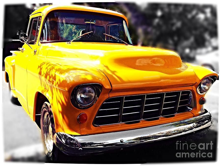 Yellow Truck Photograph - Yellow Chevy by Garren Zanker