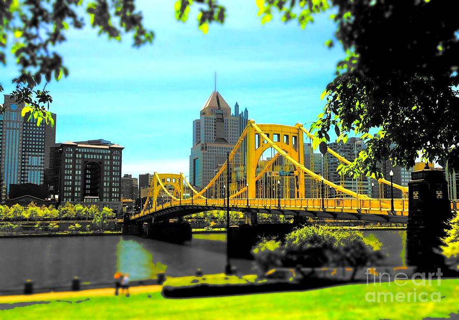 Yellow Clemente Bridge Photograph