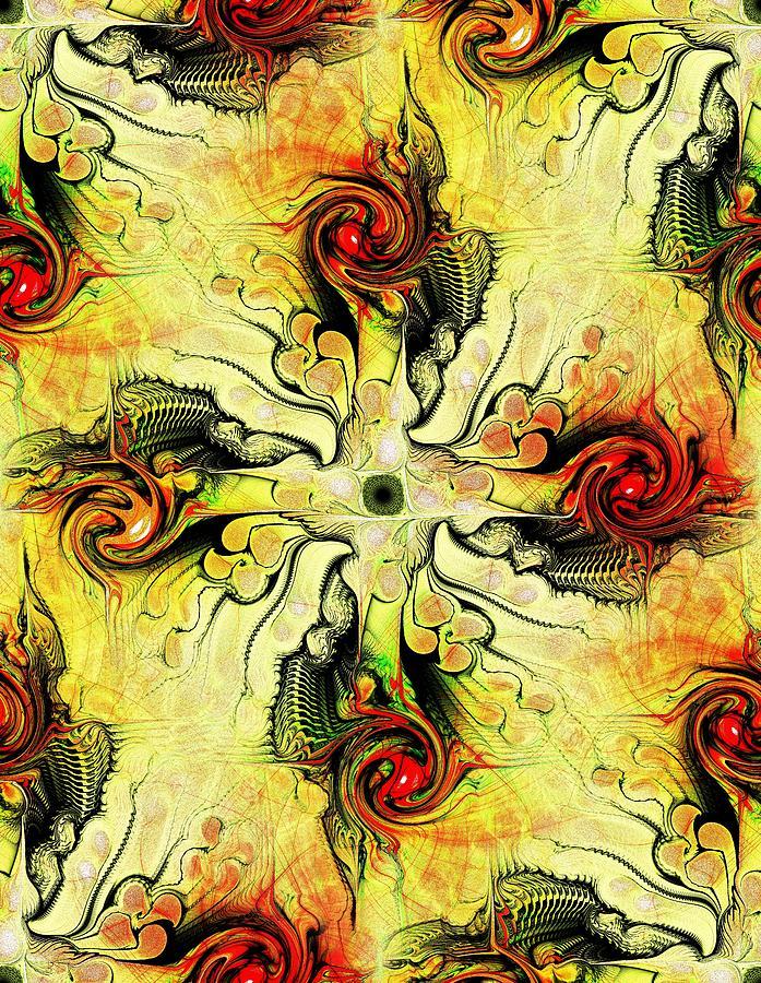 Yellow Cross Digital Art