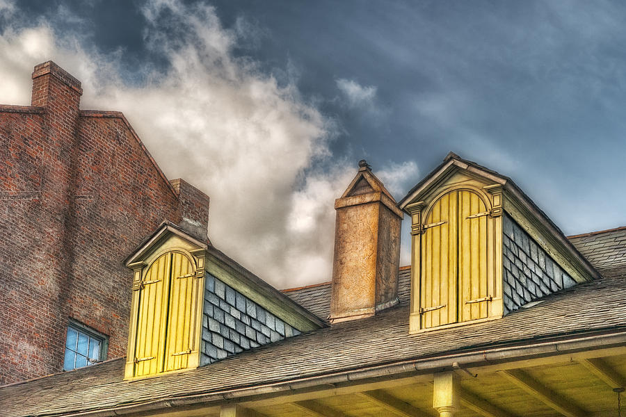 Yellow Dormers Photograph  - Yellow Dormers Fine Art Print