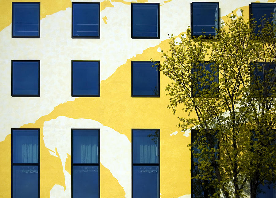 Yellow Facade In Berlin Photograph