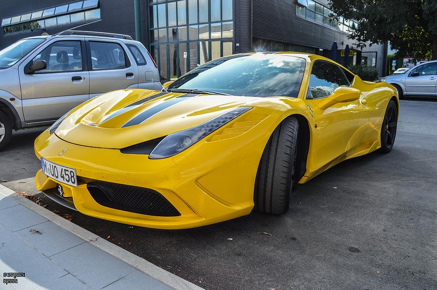 Yellow Ferrari 458 Speciale Photograph by Beyond Speed