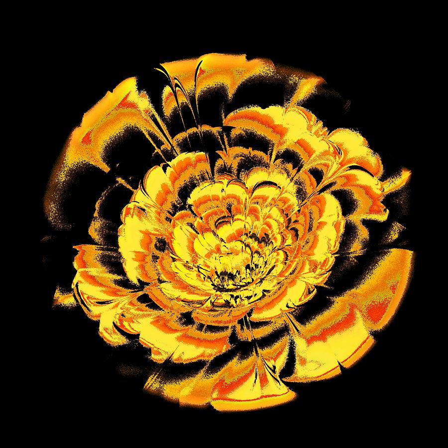 Yellow Flower Digital Art  - Yellow Flower Fine Art Print