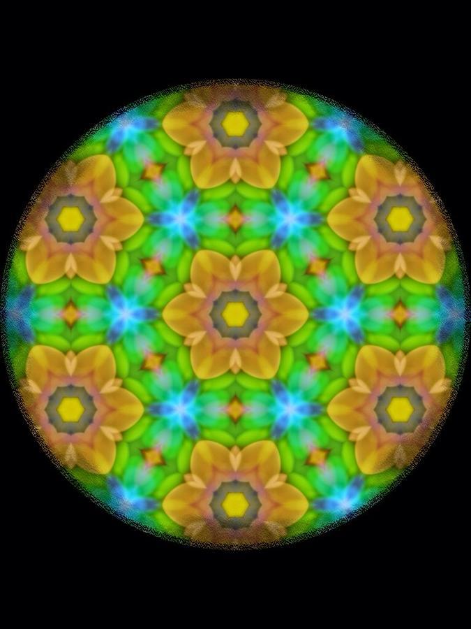 Yellow Flower Mandala Digital Art