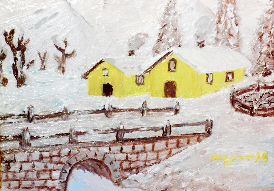 Yellow Houses Painting