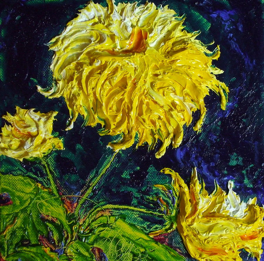 Yellow Mum Painting  - Yellow Mum Fine Art Print
