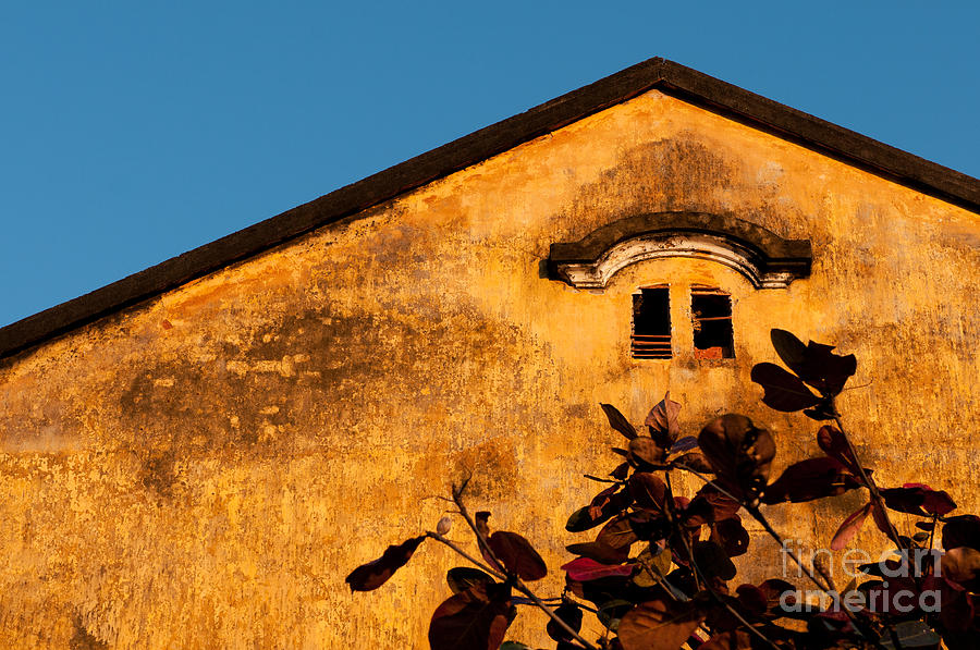 Yellow Ochre Gable Photograph  - Yellow Ochre Gable Fine Art Print