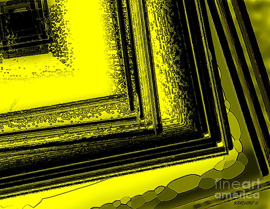 Yellow Over Yellow Art Digital Art  - Yellow Over Yellow Art Fine Art Print