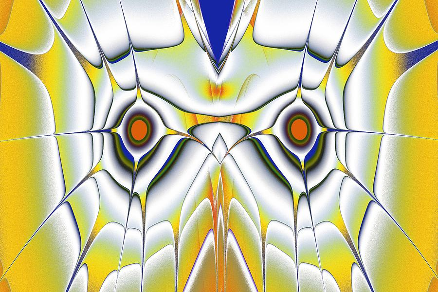 Computer Digital Art - Yellow Owl by Anastasiya Malakhova