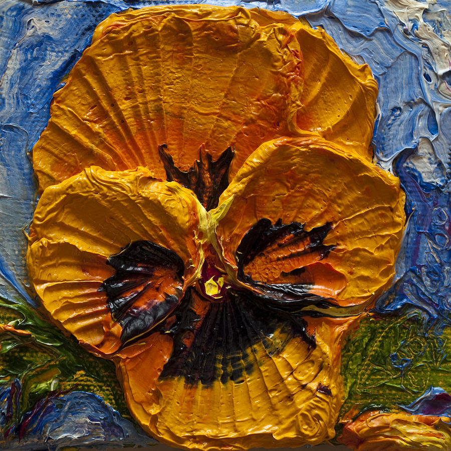 Pansy Paintings Painting - Yellow Pansy by Paris Wyatt Llanso