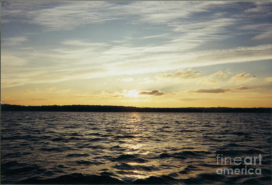 Yellow Sunrise In Manhassett Bay Photograph