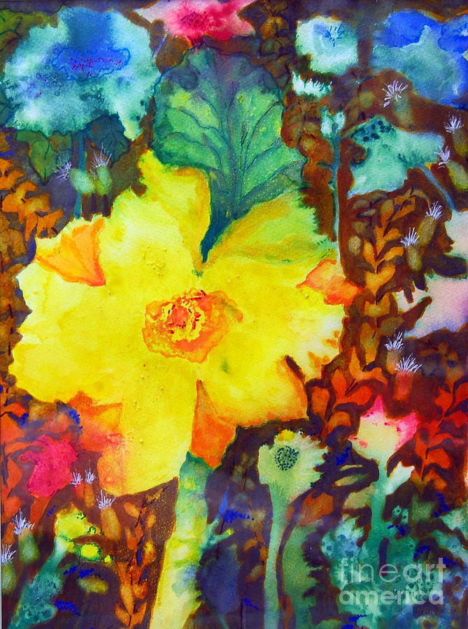 Yellow wild flower 2 painting by henny dagenais for Henny and paint