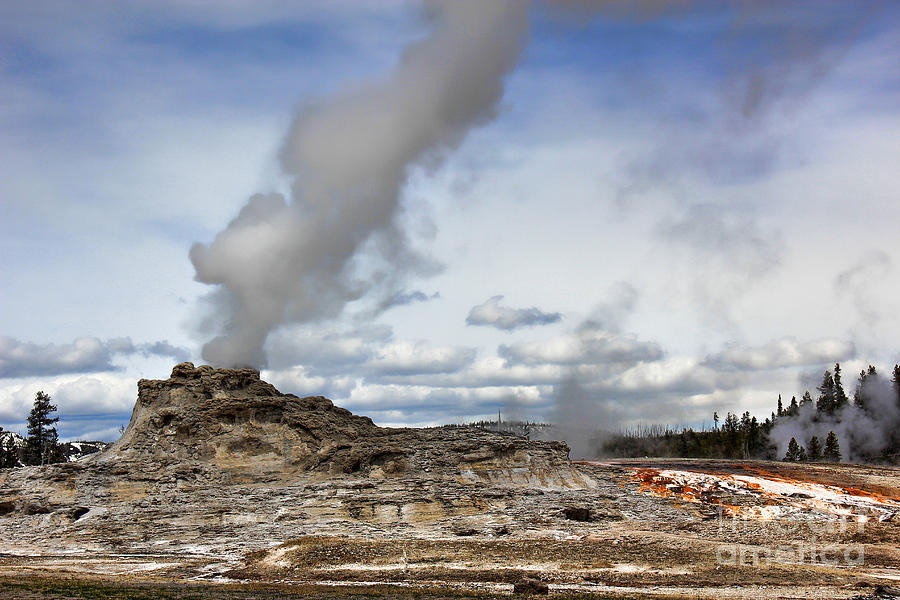 Yellowstone Castle Geyser Photograph