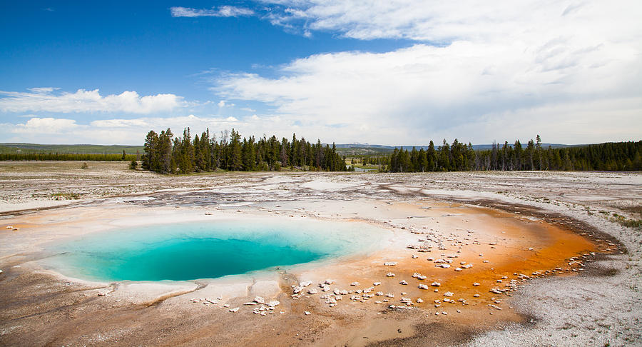 Landscape Photograph - Yellowstone Prismatic Spring by Adam Pender