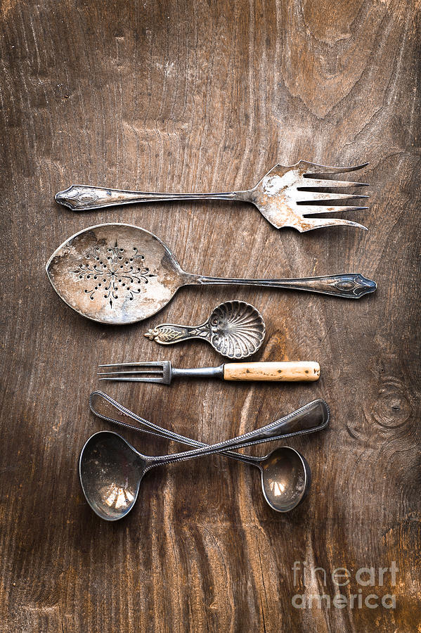 Cutlery Photograph - Yesterday by Jan Bickerton