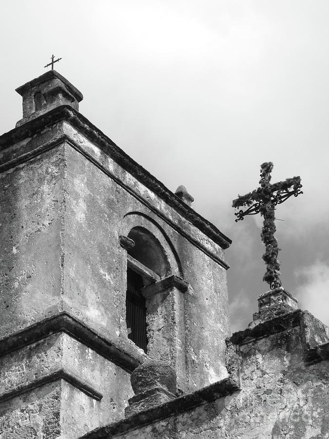 Spanish Mission Print Photograph - Yesterday Today Eternity by Joe Jake Pratt
