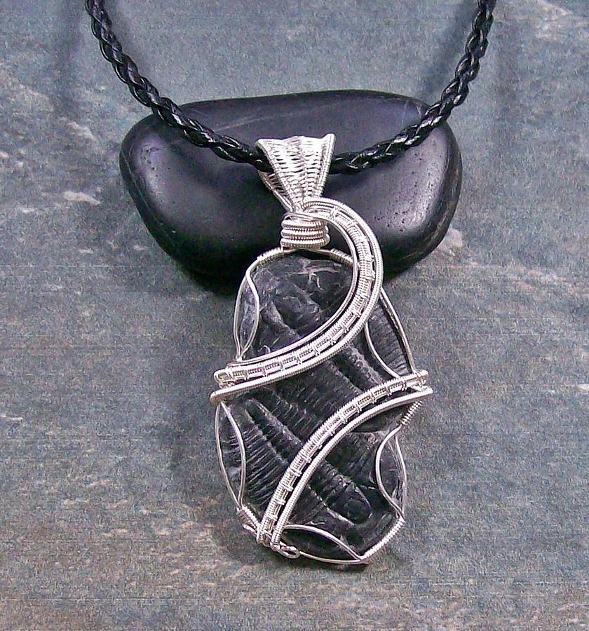 Fossil Jewelry - Yin And Yang Double-trilobite Fossil Pendant by Heather Jordan