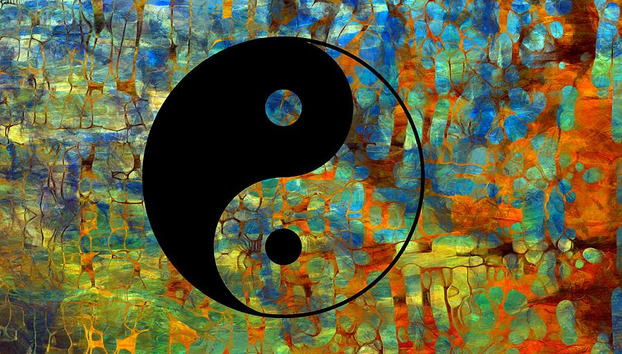 Yin Yang Abstract Digital Art