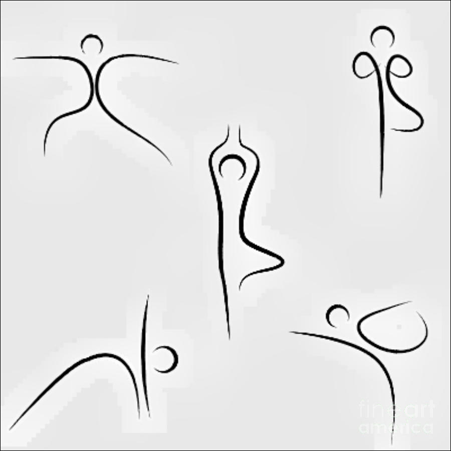 Yoga Moves Digital Art