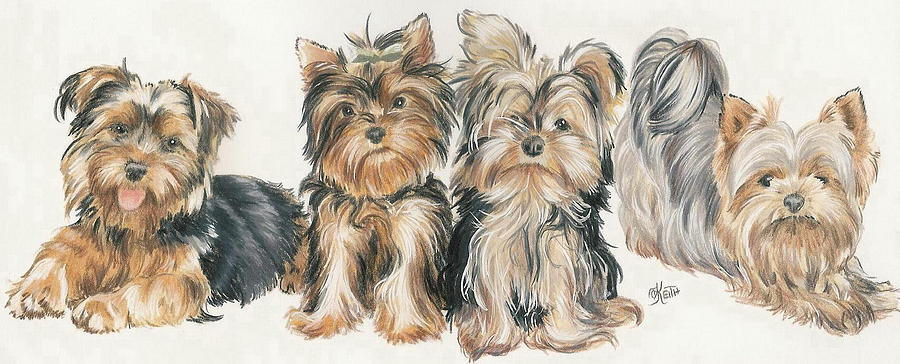 Yorkshire Puppies Painting