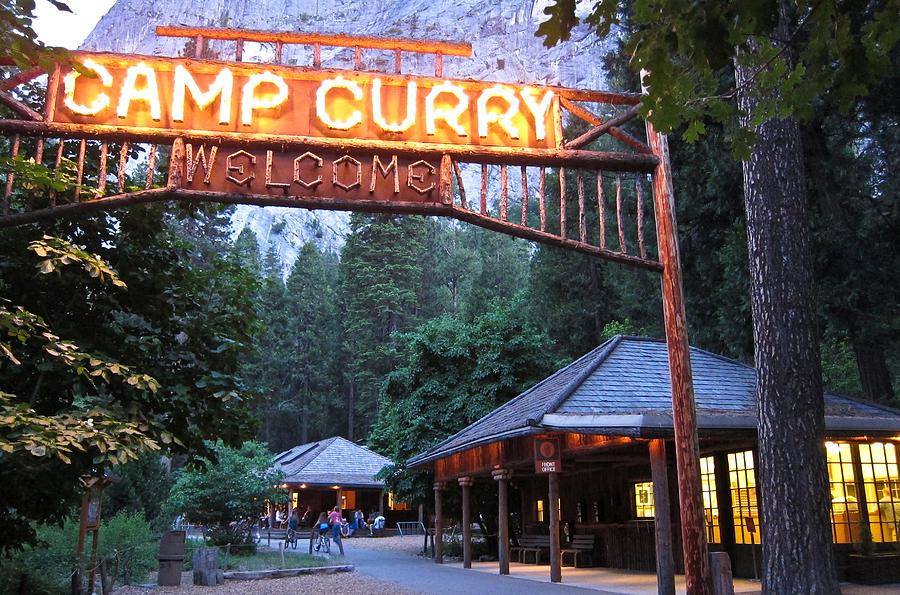 Risultati immagini per camp curry yosemite