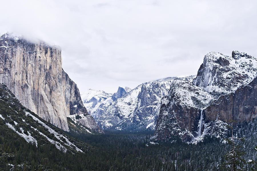Yosemite Tunnel View In Winter Photograph