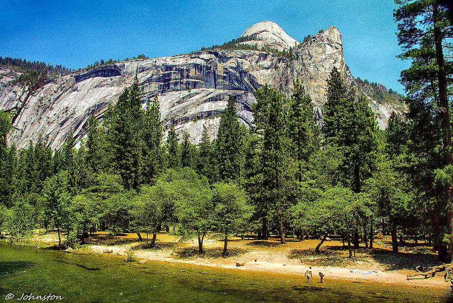 Yosemite Valley Along Yosemite River Beach Photograph  - Yosemite Valley Along Yosemite River Beach Fine Art Print