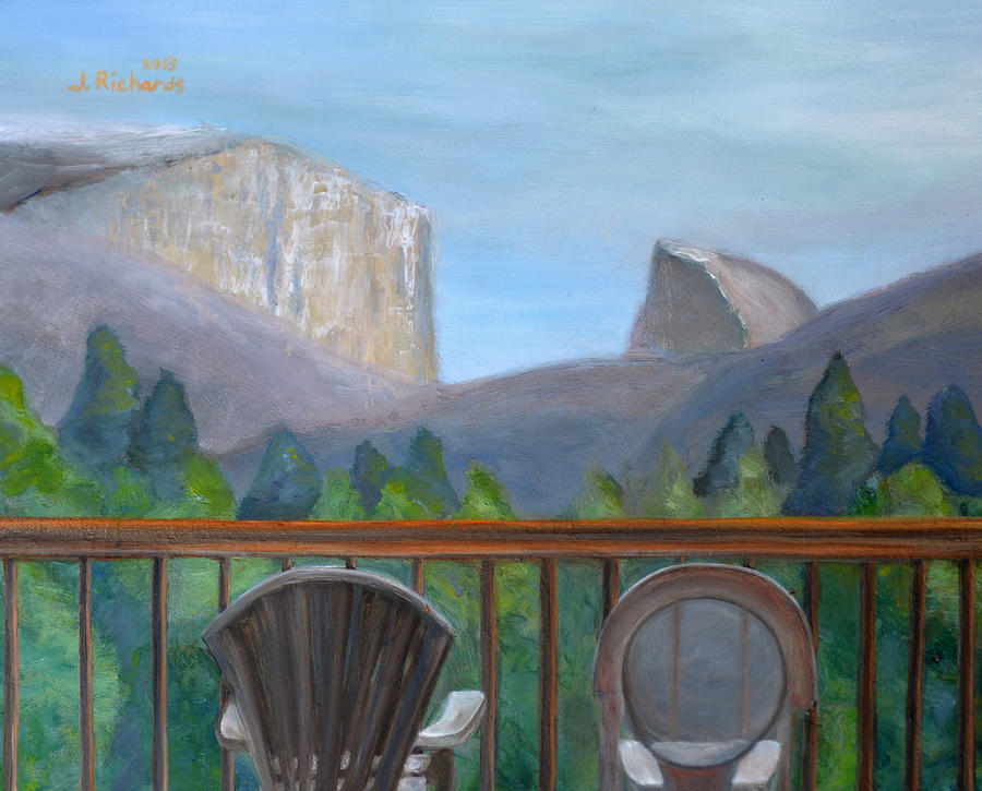 Yosemite Valley View Painting  - Yosemite Valley View Fine Art Print