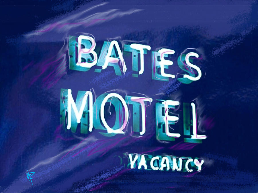 Bates Motel Mixed Media - You Check In But You Dont Check Out by Russell Pierce