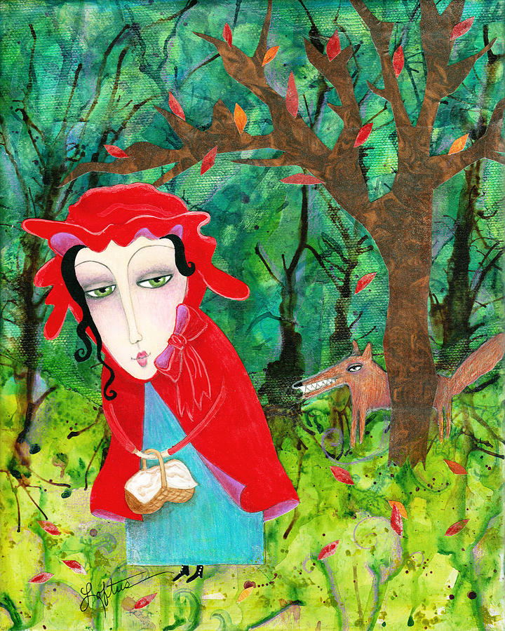 Little Red Riding Hood Painting - You Sure Are Looking Good by Joann Loftus