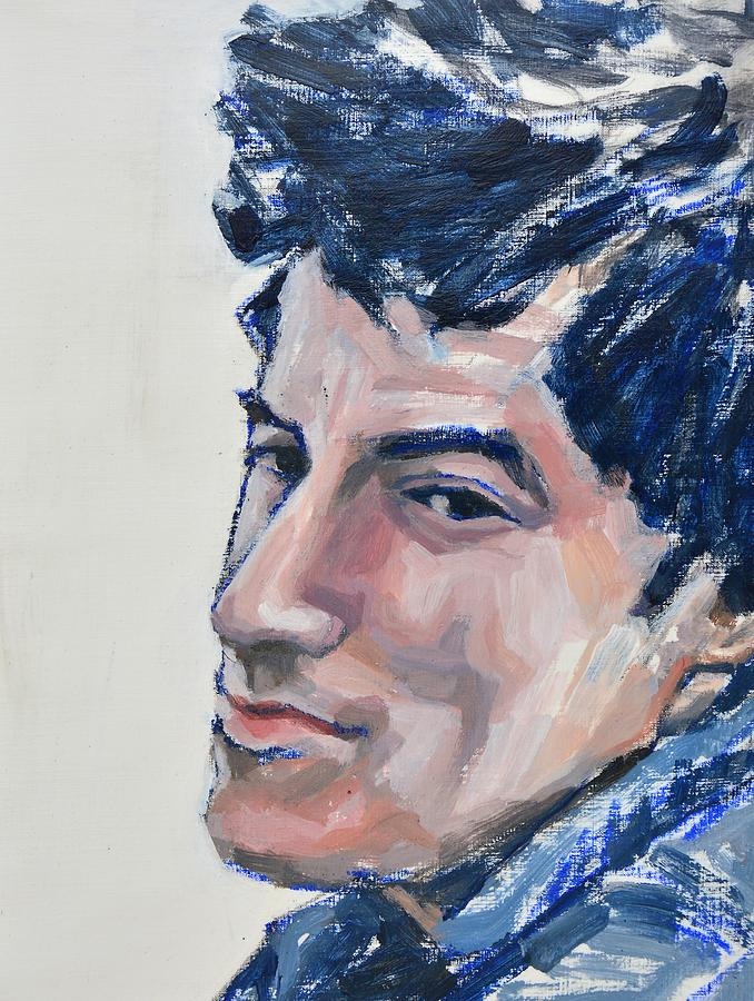 Young Boss - Bruce Springsteen Painting