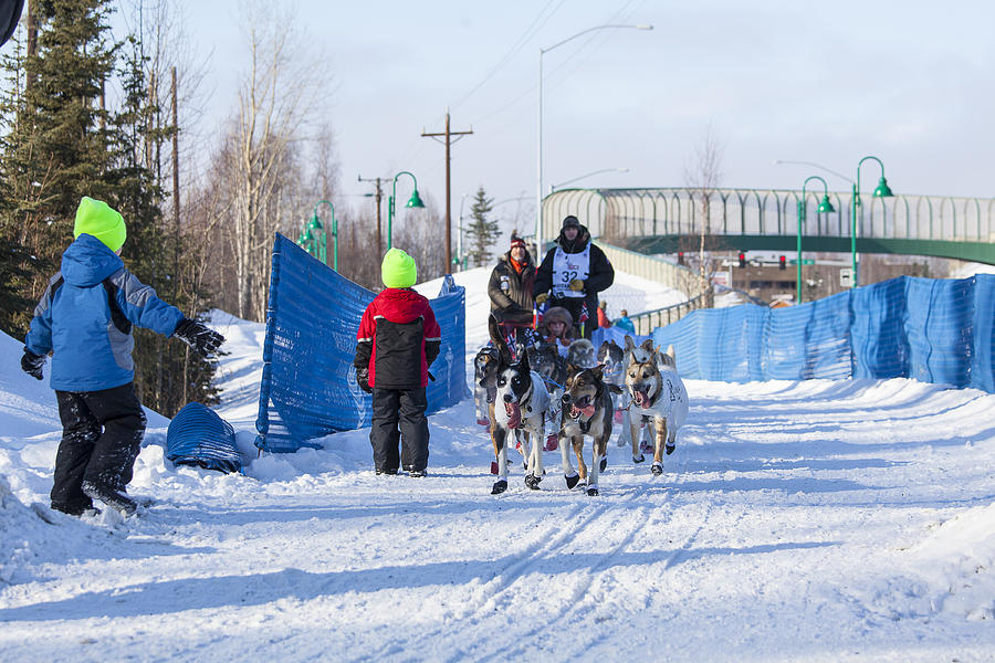 Young Fans Of Mushers Photograph