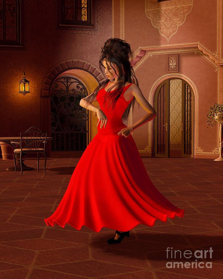Young Flamenco Dancer Digital Art