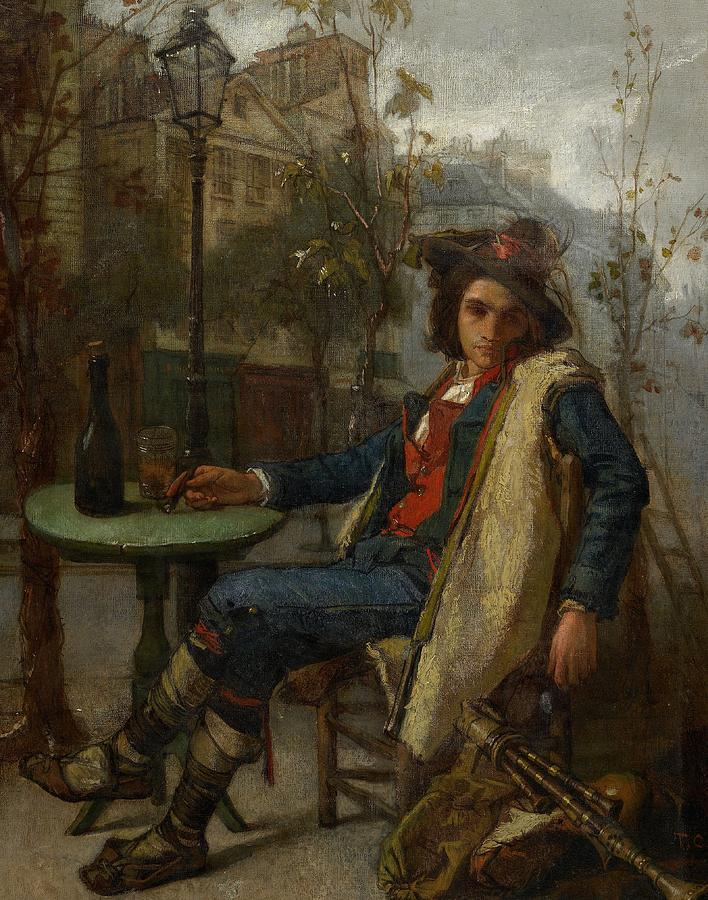 Young Italian Street Musician Painting