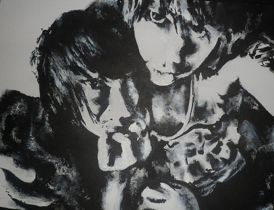 Black Painting - Young Lovers by Cherise Foster
