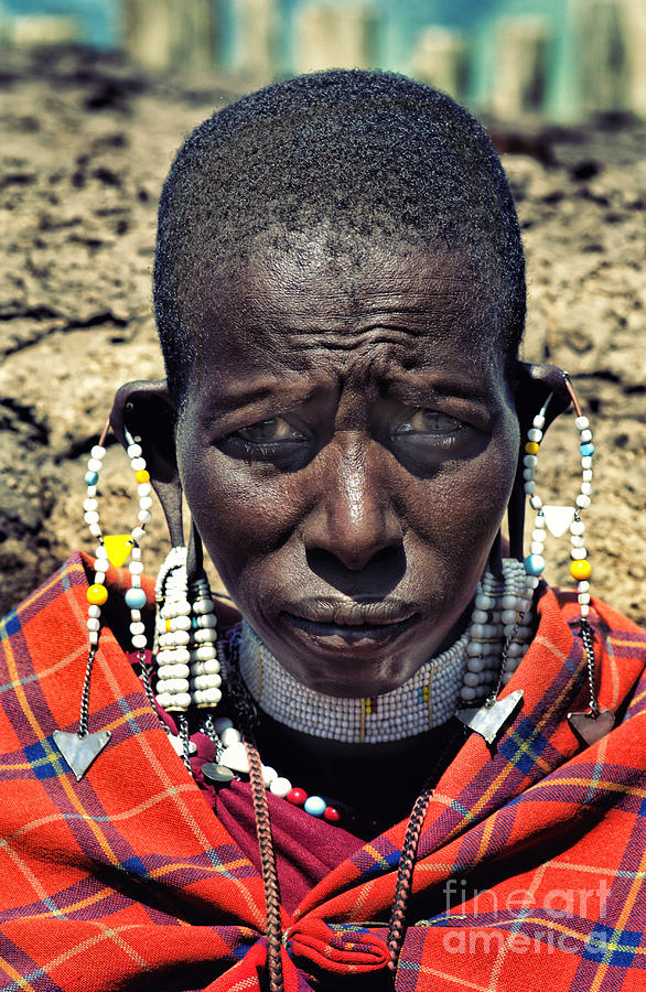 Young Maasai Woman Photograph