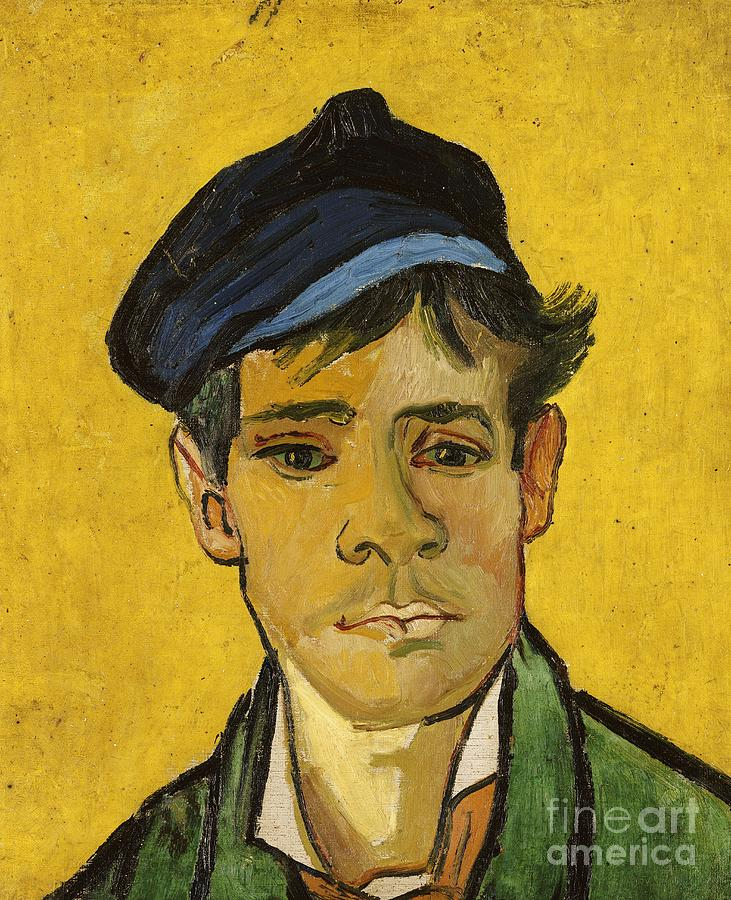 Young Man With A Hat Painting  - Young Man With A Hat Fine Art Print