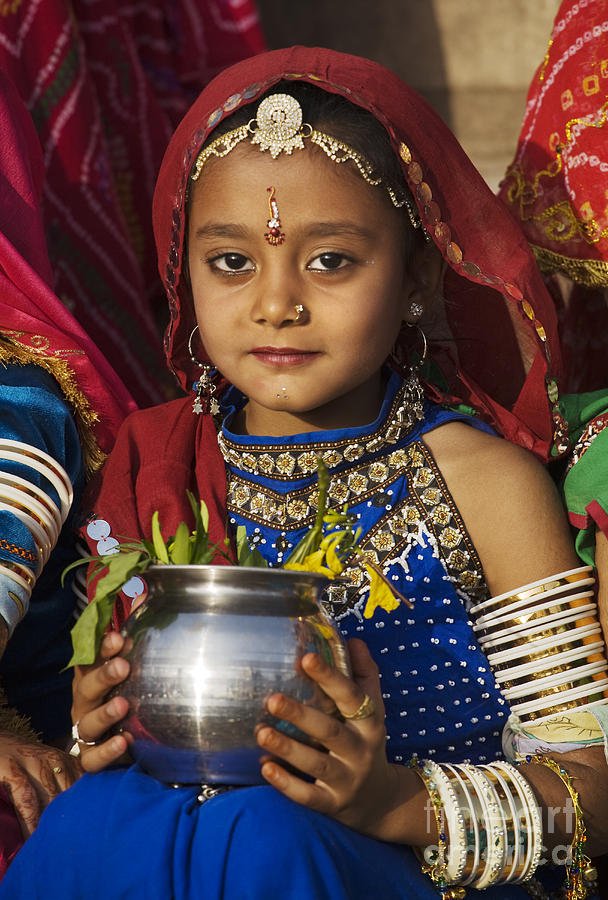 Young Rajathani At Mewar Festival - Udaipur India Photograph