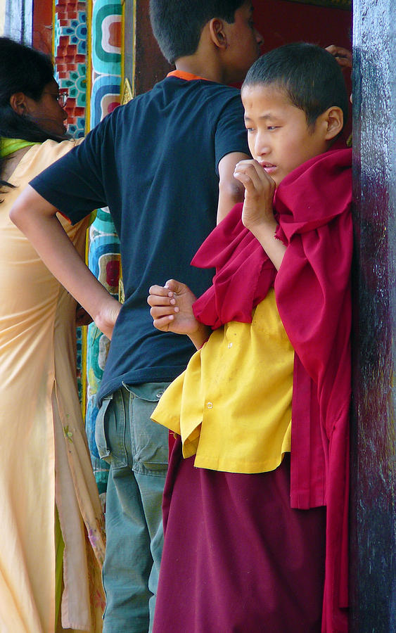 Young Tibetan Monk Photograph