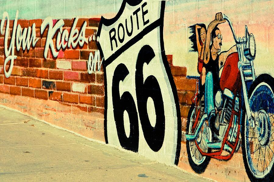 Route 66 Photograph - Your Kicks by Ellen and Udo Klinkel