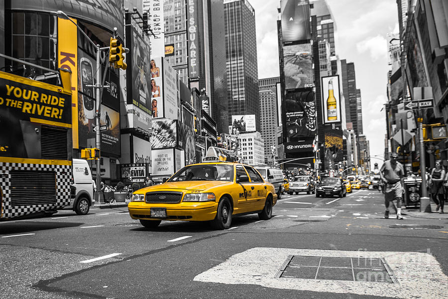 Nyc Photograph - Your Ride - Ck  by Hannes Cmarits