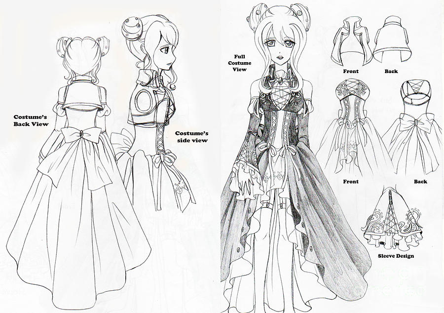 Design Dress Drawings Haku Dress Design Drawing