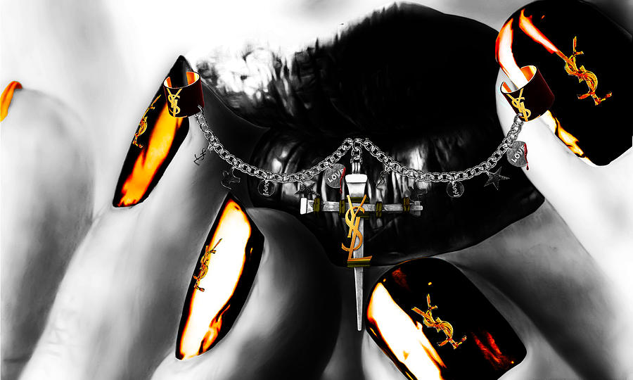 Ysl Silver Digital Art