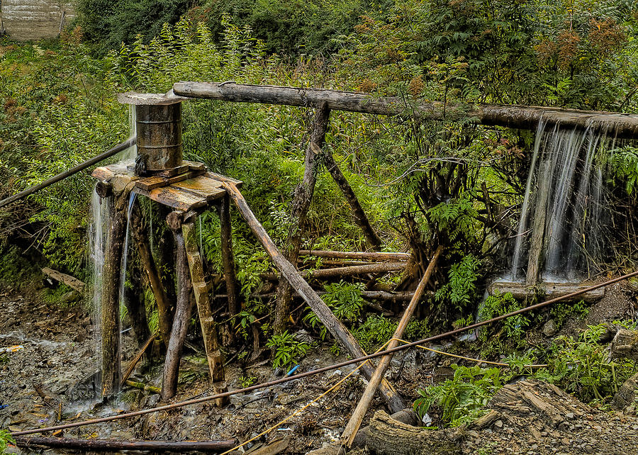 2010 Photograph - Yubeng Water Works by James Wheeler
