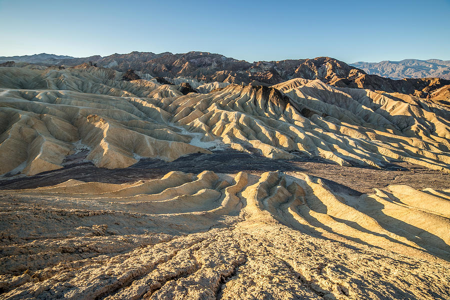 Death Valley Photograph - Zabriskie Point Spectacular Mountains  by Pierre Leclerc Photography
