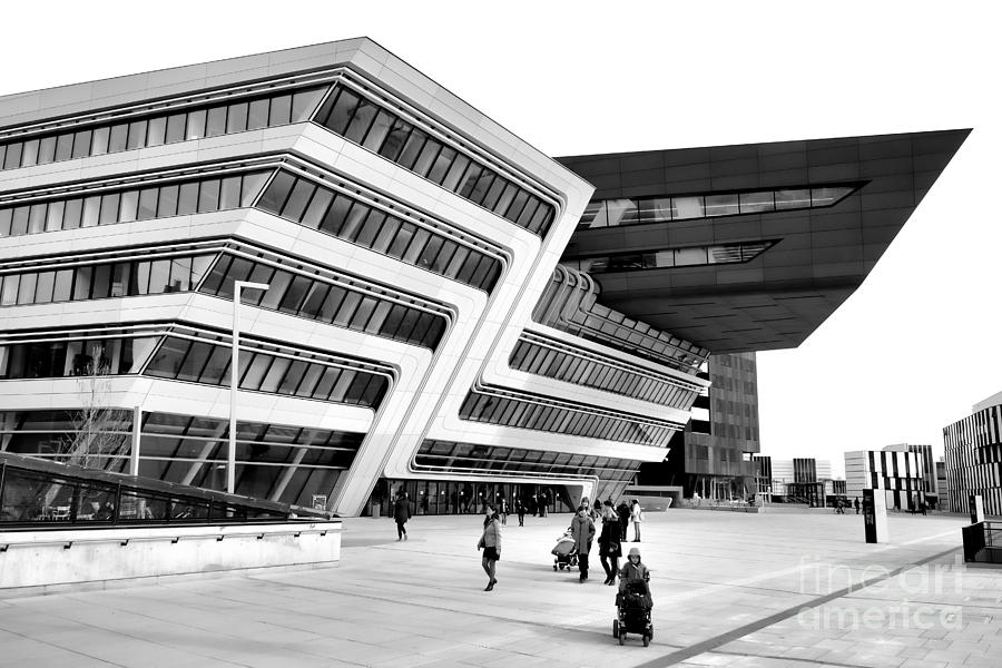 Zaha hadid library center wu campus vienna photograph by for Zaha hadid vienna