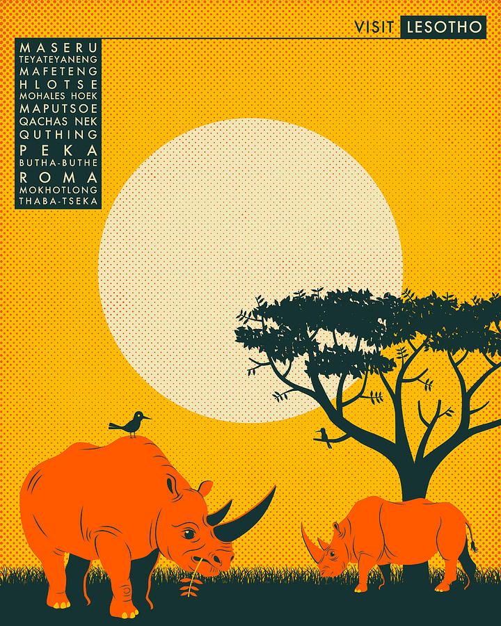 Lesotho Travel Poster Digital Art