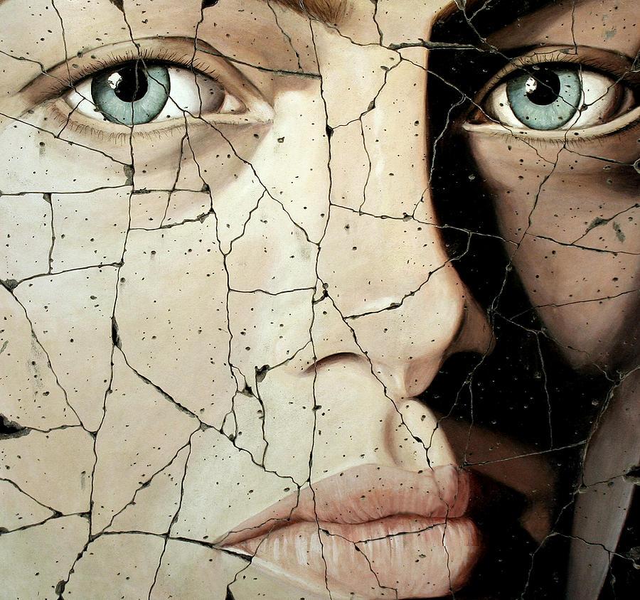 Face Painting - Zara - Study No. 1 by Steve Bogdanoff