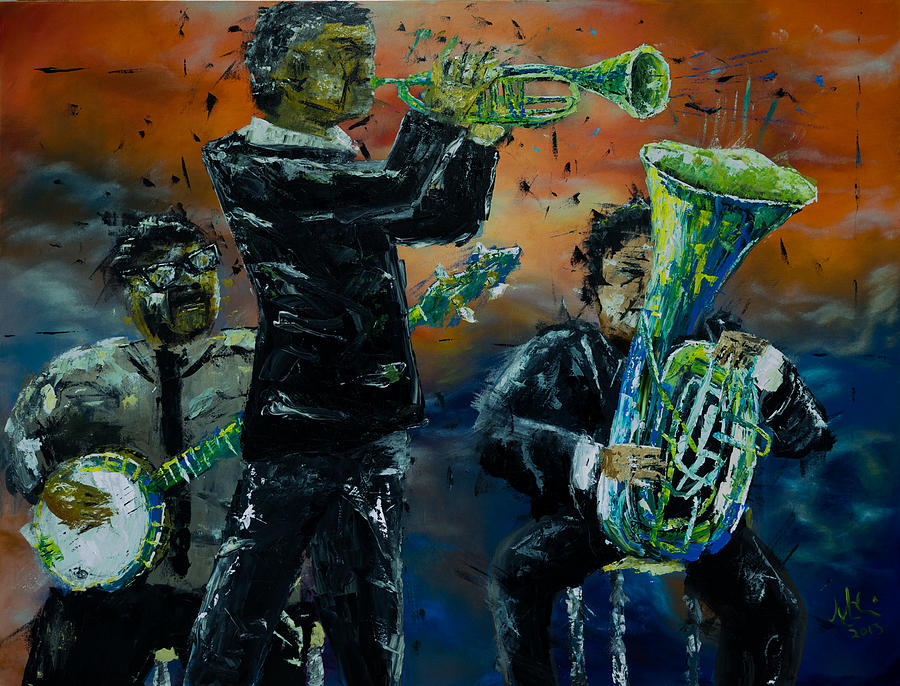 Ze Poutine Dixieland Band Painting
